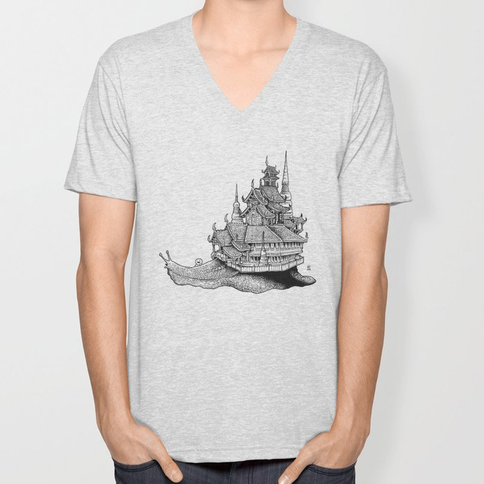Snail Temple Unisex V-Neck