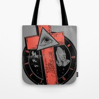 religion Tote Bags featuring Religion by Tshirt-Factory