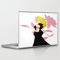 mom Laptop & iPad Skins featuring Mom by LizDrawsss