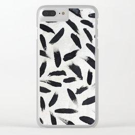 Pintas negras Clear iPhone Case