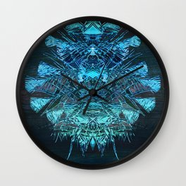 Digital Painting - Crystal Sequence to a Spiritual Core Wall Clock