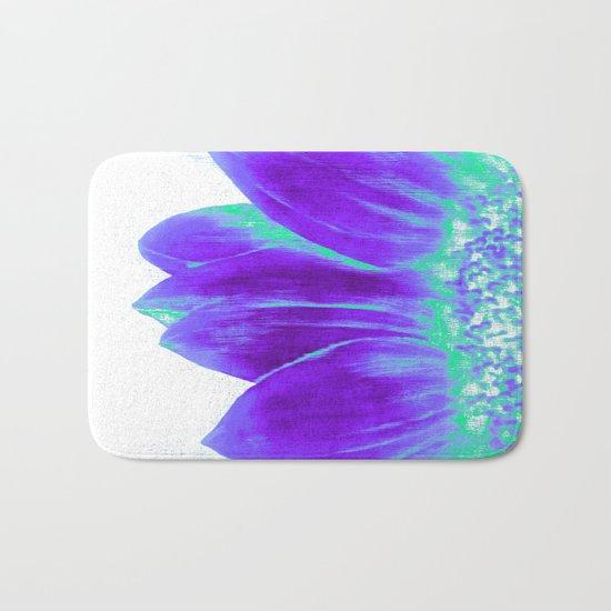Sunflower Bright Violet & Mint Green Bath Mat
