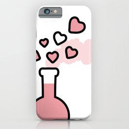 Pink Love Magic Potion in a Laboratory Flask iPhone Case
