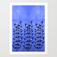 Blue Plant With Pointy Leaves Art Print