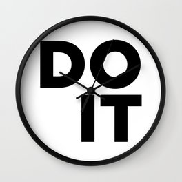 Do It, Just Go Quote, Stop Waiting Quote Wall Clock