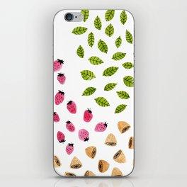 Strawberries Lemons & Leaves iPhone Skin