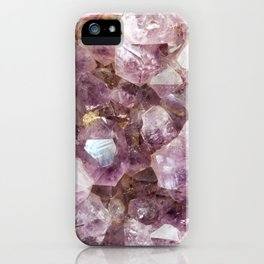 Amethyst and Gold iPhone Case