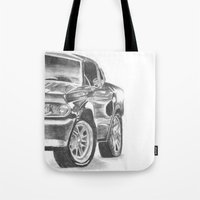 mustang Tote Bags featuring Mustang by WNN Creations