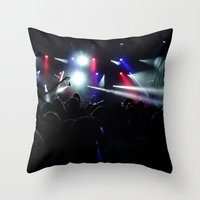 concert Throw Pillows featuring CONCERT by Eclectic House Of Art