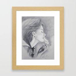Smoke Trails (a Nicotine Daydream) Framed Art Print