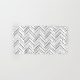 black and white geometric pattern, graphic design Hand & Bath Towel