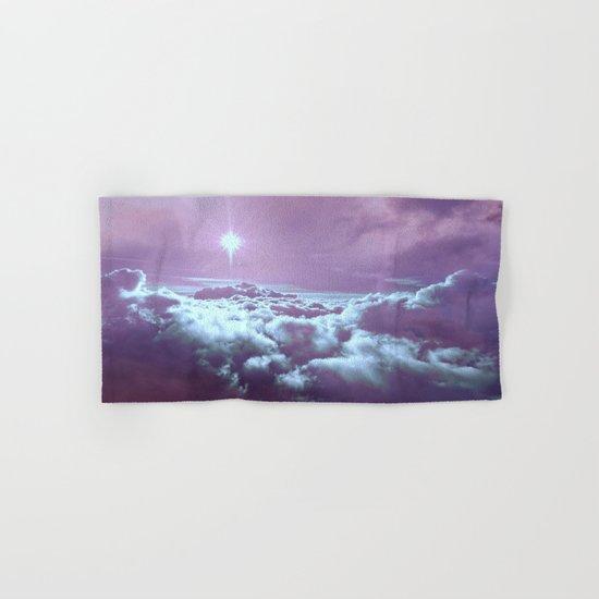Mystic Clouds Lavender Aqua Hand & Bath Towel
