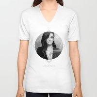 rihanna V-neck T-shirts featuring Rihanna by Nicolas Jamonneau