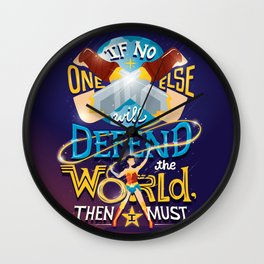 Defend your world v2 Wall Clock