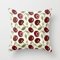 Cherries pattern Throw Pillow