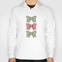 bows Hoodies featuring Red and Blue Bows   by Ambers Illustration