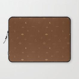 Southwestern Symbolic Pattern in Rust & Tan Laptop Sleeve