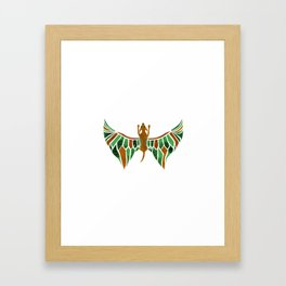 Flying Dog with Green Wings Framed Art Print