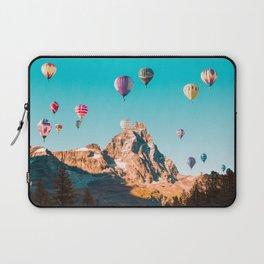 Hot Air Balloons over Matterhorn Laptop Sleeve