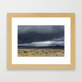 Nevada desert storm Framed Art Print
