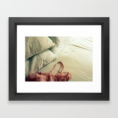 Bed Clothes Framed Art Print