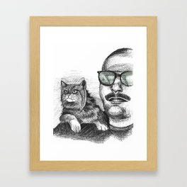 Max and Curly Framed Art Print