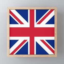 red white and blue trendy london fashion UK flag union jack Framed Mini Art Print