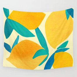 Mangoes - Tropical Fruit Illustration Wall Tapestry