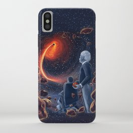 Ghosts in the Sky: Stephen Hawking and Albert Einstein iPhone Case
