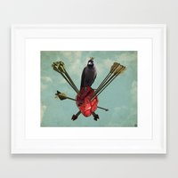 arrows Framed Art Prints featuring Arrows by Seamless