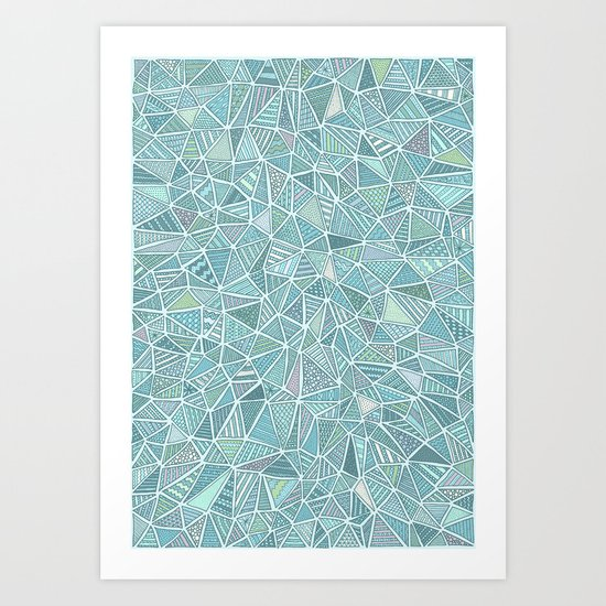 Pastel Diamond Art Print