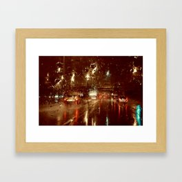 Just Another Rainy Freeway Framed Art Print