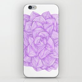 Purple flower, bohemian,elegant style. iPhone Skin
