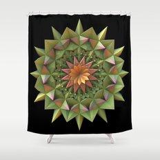 Cactus Flower Mandala Shower Curtain