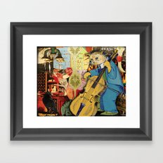 Distarcted Busker Framed Art Print