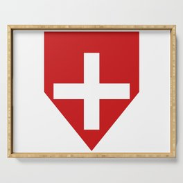 Swiss flag Serving Tray