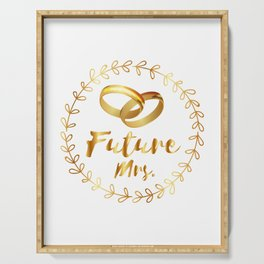 Bachelorette Party Future Mrs. Serving Tray