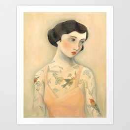 Tatooed Lady Rara Avis Kunstdrucke