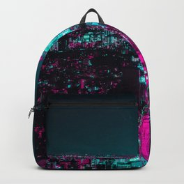 future city vaporwave Backpack
