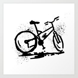 Rest bike Art Print