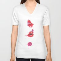 lips V-neck T-shirts featuring lips by jgart