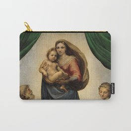 The Sistine Madonna Oil Painting by Raphael Carry-All Pouch