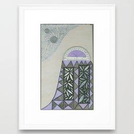 Hundertwasser's Meteor #2 Framed Art Print