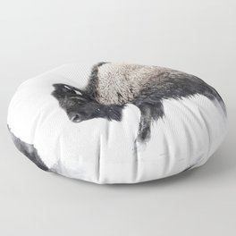 Prancing Buffalo Floor Pillow