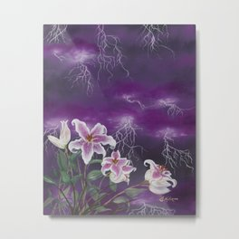 Electric Stargazers Metal Print