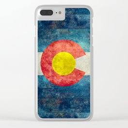 Colorado State flag - Vintage retro style Clear iPhone Case