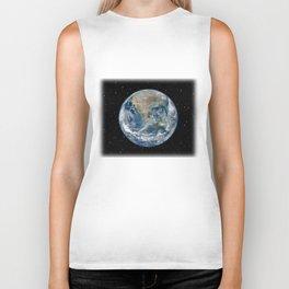 EARTH FROM SPACE Biker Tank