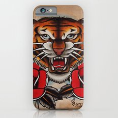Old School Tiger and roses - tattoo iPhone 6s Slim Case