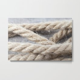 thick braided rope Metal Print