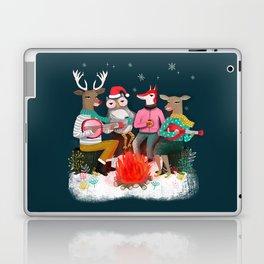 Fireside Christmas by Andrea Lauren  Laptop & iPad Skin
